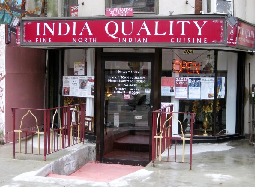 Indian Restaurant Theater District Boston